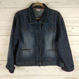 Chico's denim jacket 3 XL 16